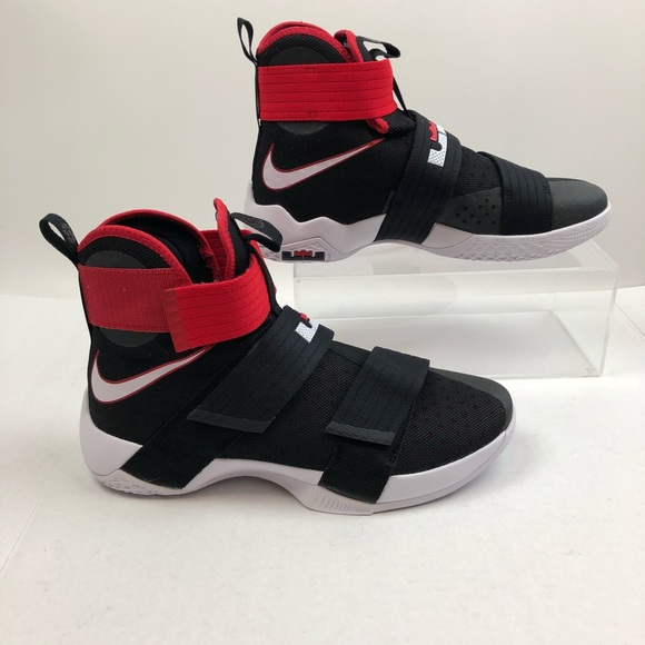 new product 9cd61 789a5 Nike Lebron Soldier 10 unreleased black red 11 NWT